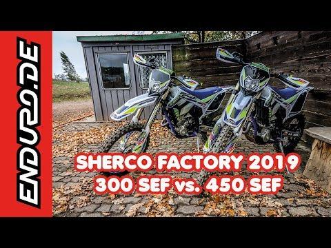 Sherco Factory SEF 300 vs. SEF 450 Test