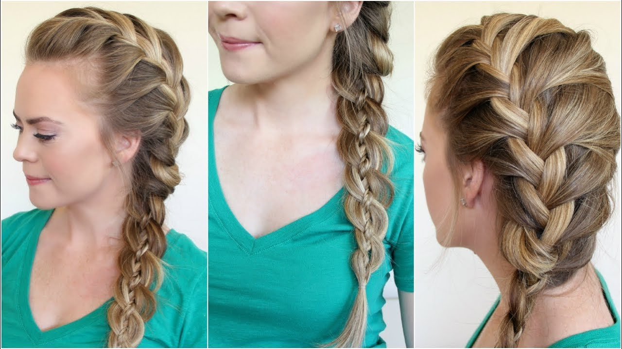 French braid and four strand side braid youtube ccuart Images
