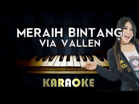 Meraih Bintang - Via VAllen | Piano Karaoke Version Instrumental Lyrics Cover Sing Along