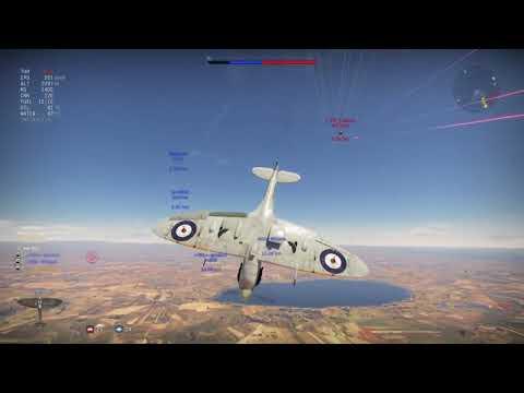 Warthunder - Realistic Battle flying the British spitfire