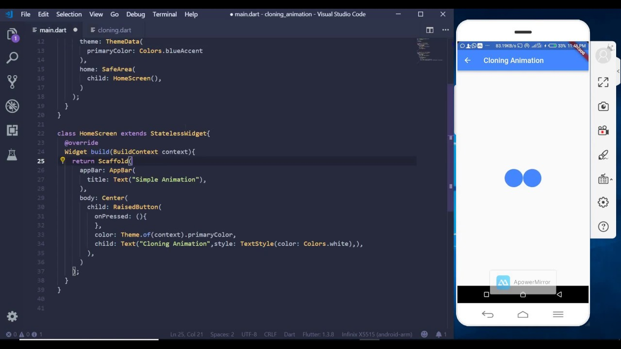 Animations in Flutter - 3. Cloning Animation