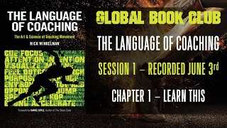 Language of Coaching Book Club - Session 1 - Chapter 1