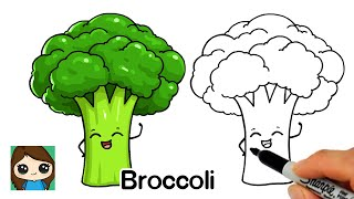 How to Draw Broccoli Easy  Veggie Series #1