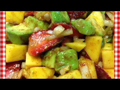 Avocado Mango Salad with Strawberries ~ Summer Salad Recipe ~ Vegan Recipe ~ Noreen's Kitchen