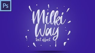 Milki way Text Effect | Photoshop Text Effect Tutorial