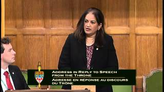 Salma Zahid response to speech from the throne