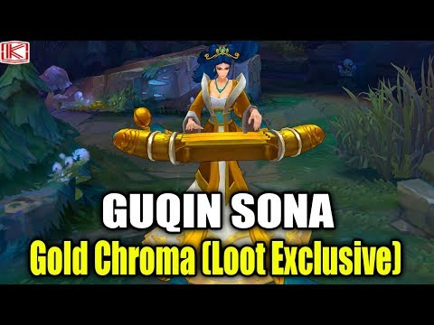 GOLD CHROMA GUQIN SONA (LOOT EXCLUSIVE) - League of Legends