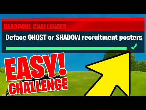 Deface GHOST Or SHADOW Recruitment Posters - Deadpool Challenge Fortnite
