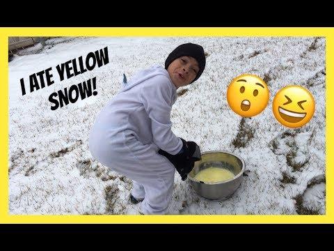 SNOW ICE CREAM!!!