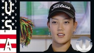 Golf star Michelle Wie aged 14 on Trans World Sport