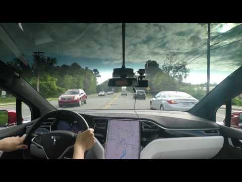 3. Tesla AP1 commute: Chapel Hill to RTP (morning, 8am)