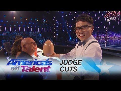 Jeki Yoo: Magician Amazes With Hidden Card Trick - America's Got Talent 2017