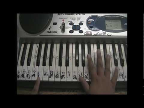 Lady Gaga Poker Face Acoustic Piano Tutorial Part 1