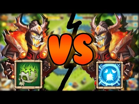 5/5 Corrode Skull Knight Vs 8/8 Scatter Skull Knight!!!- CASTLE CLASH