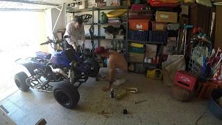 Vlog 7  Yamaha Banshee 350 Change My R1 Suspensions To YFZ 450  Suspensions
