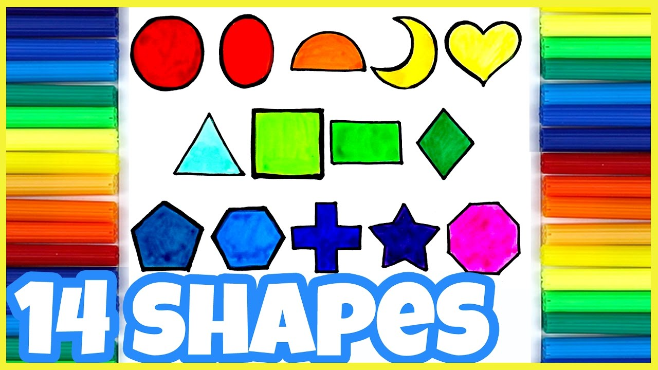 Learn Shapes For Kids 2D Geometric Shapes (Fun