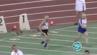 Вечерний Ургант. Необычный забег на 100-метровке.