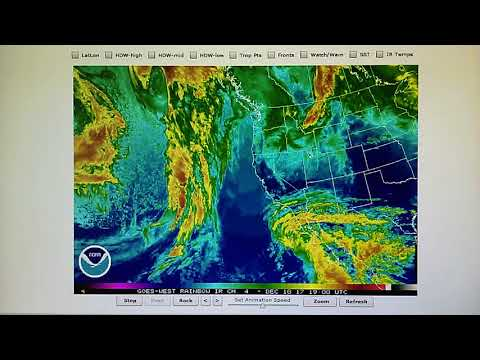 12-10-2017; Follow-up; Giant Low Pressure Moves Into Southwest U.S. But No Precipitation!