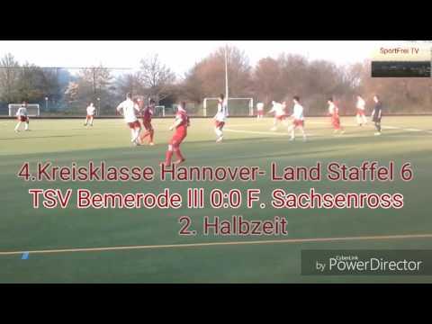 4. Kreisklasse Hannover- Land Staffel 6. (02.04.17) TSV Bemerode lll 5:0 Fortuna Sachsenross lll HD