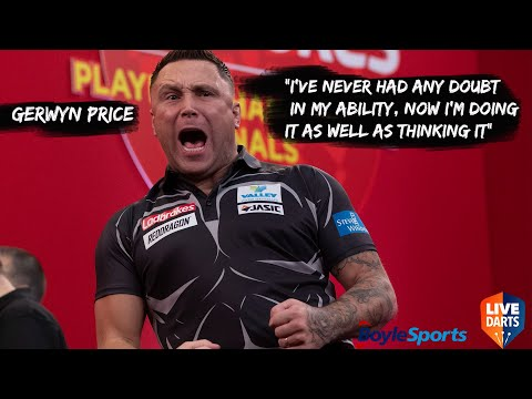 "Gerwyn Price: ""I've never had any doubt in my ability, now I'm doing it as well as thinking it"""