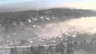 Ogres rīta migla. 26.janvārī 2015. gadā