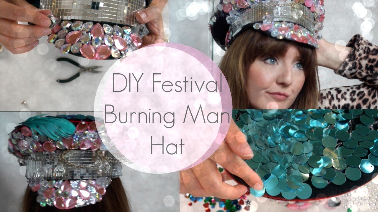 c160c37f5c65a DIY Festival Embellished Burning Man Captain Hat - YouTube