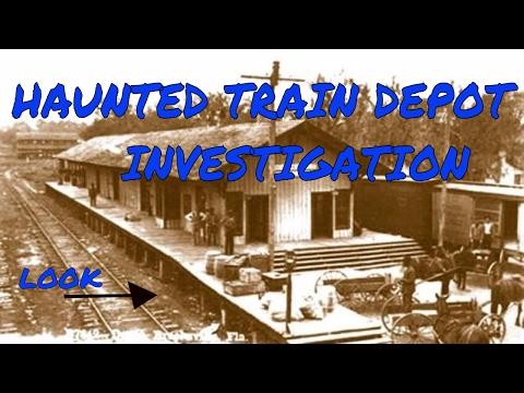 HAUNTED BROOKSVILLE TRAIN DEPOT OVERNIGHT AND LOCKED IN,  PART 1