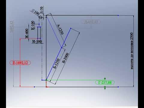 Эскиз подъемных ворот-2. Принцип работы, пропорции, размеры.
