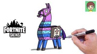 Comment dessiner Fortnite Llama Easy Walkthrough-Drawing à dessiner