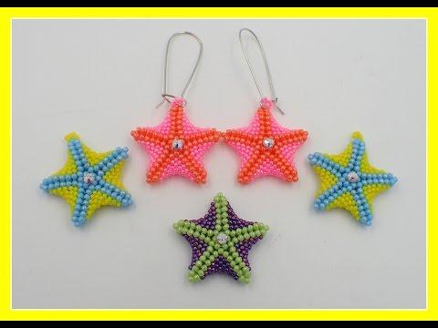 Beaded Starfish Earrings