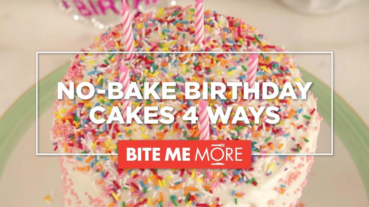 Dessert Recipe Easy No Bake Birthday Cakes Youtube
