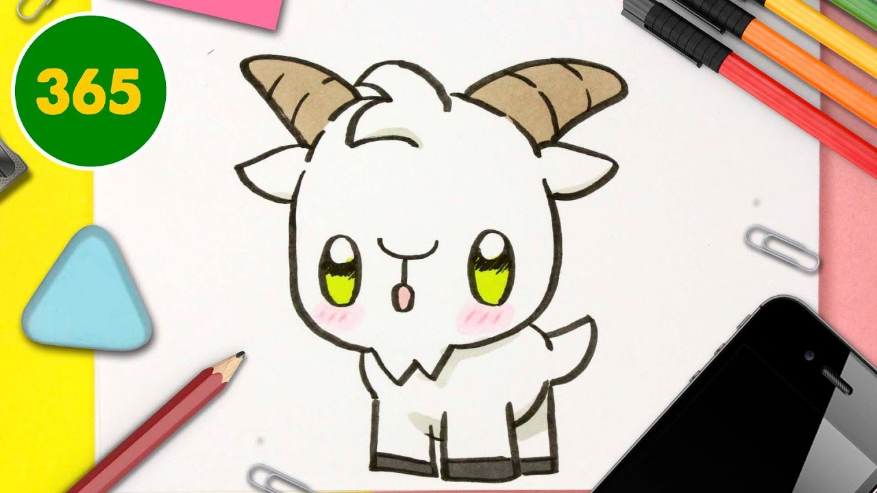 Comment Dessiner Une Chevre Kawaii Dessins Kawaii Faciles Apprendre A Dessiner Des Animaux Kawaii Youtube