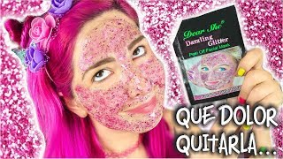 GLITTER MASK by BARRIO CHINO ✩ ¡casi me arranca las cejas! - Ann Look