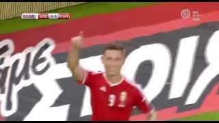 Németh Krisztián gólja Görögország ellen   Görögország vs Magyarország 1 2 2015 HD