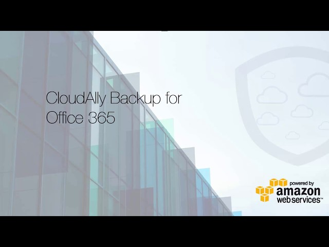 CloudAlly Office365 backup