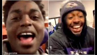 Kodak Black Sneaks Into Locker Room Of Baltimore Ravens After Winning AFC North Title