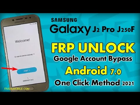 Samsung J2 Pro 2018 (SM-J250F) FRP Unlock or Google Account Bypass Without sim