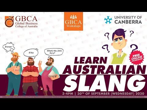 Learn Australian Slang - Online Workshop - GBCA