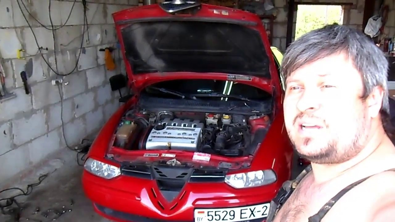 Снятие стартера на Alfa Romeo 156 1.6 ТС