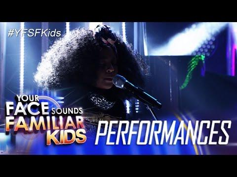 Your Face Sounds Familiar Kids: Sam Shoaf As Alicia Keys- If I Ain't Got You