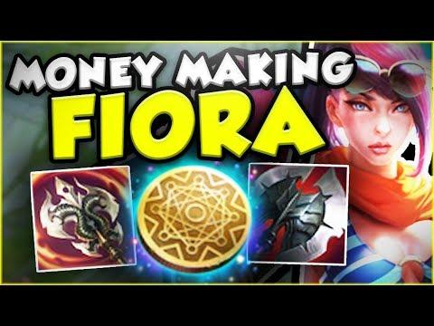 THE RICHEST FIORA EVER! NEW MONEY MAKING FIORA! FIORA SEASON 8 TOP GAMEPLAY! - League of Legends