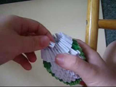 3D origami how to: striped cat