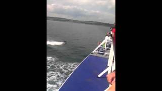 Guy jet skis across the Irish sea