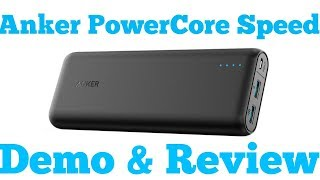 Anker PowerCore Speed 20000 Unboxing & Review (2017)