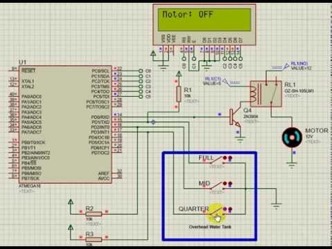 Simple Water Level & Pump Controller with ATMEGA16