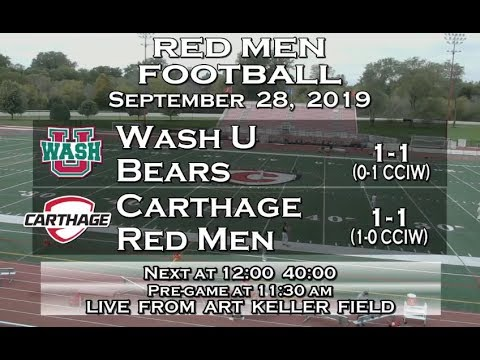 Carthage Football Vs. WashU 2019_9_28