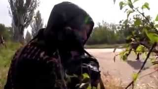 Эксклюзив БОЙ Абхаз Гиви за Аэропорт ДНР 30 09 Донбасс