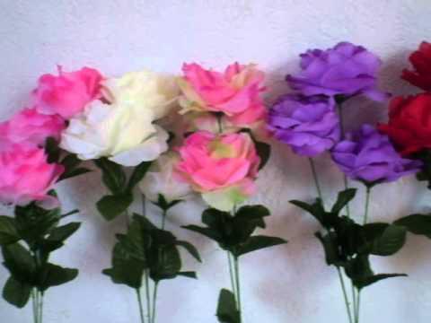 Variedad De Rosas Para Manualidades Y Decoracion Youtube - Manualidades-con-flores-artificiales