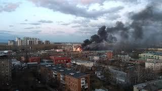 Пожар на улице Бабушкина