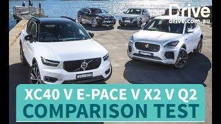 Comparison Test: 2018 Volvo XC40 v BMW X2 v Jaguar E-Pace v Audi Q2 | Drive.com.au